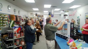 Newest store, Silverton Oregon community gathers to greet franchisees Don and Sue Harteloo.