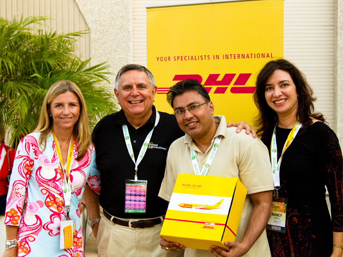 Postal Connections Franchisee, Kal Bodawala, receives DHL as the top retail shipper in the U.S.