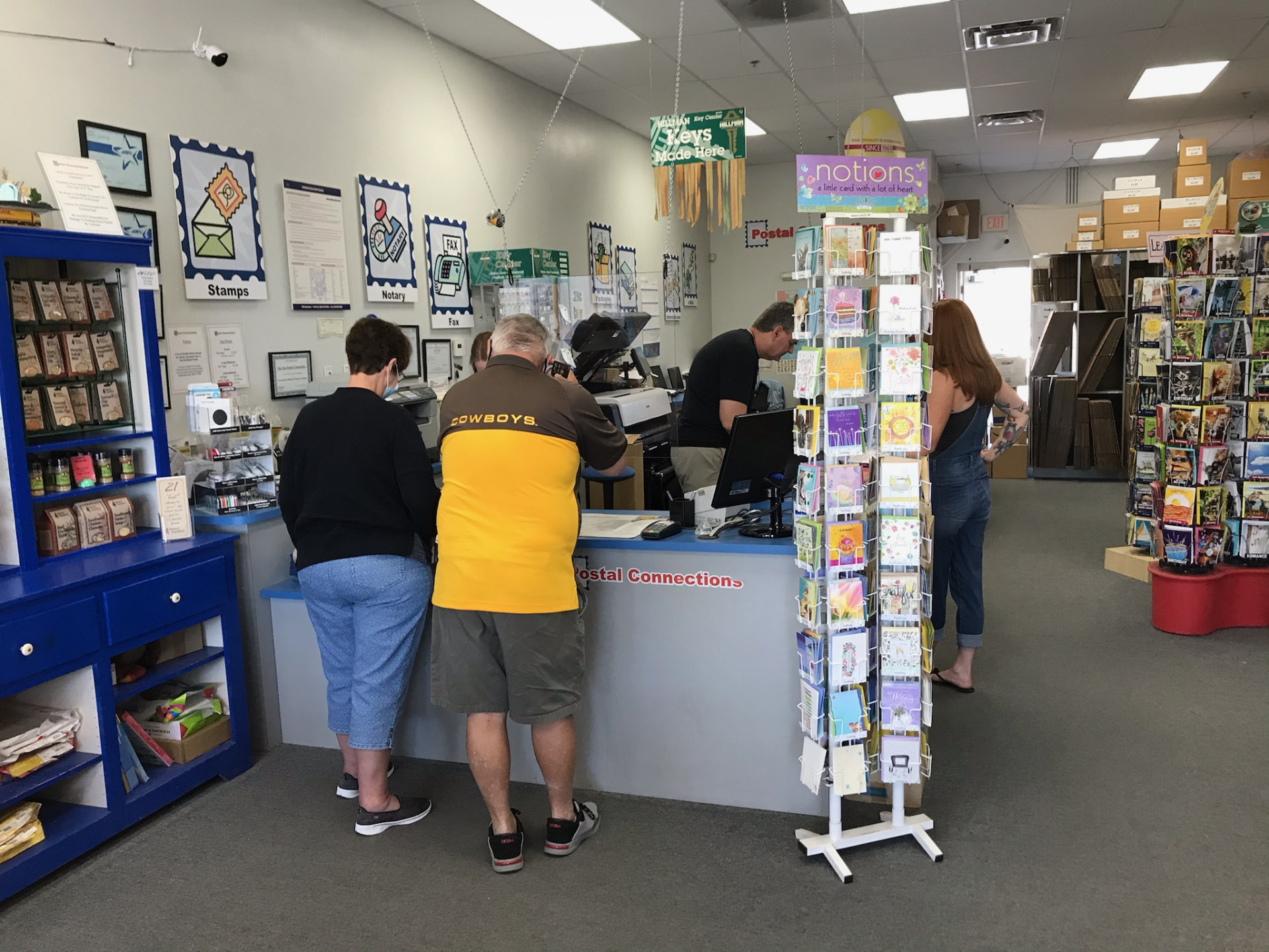 Postal Connections serving customers